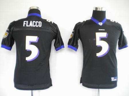 kids jerseys baltimore ravens 5 joe flacco black