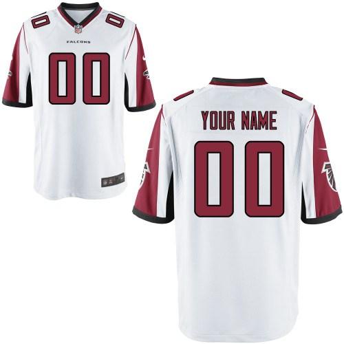 Men's Atlanta Falcons Customized Game White Jersey