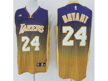 nba los angeles lakers #24 kobe bryant purple-yellow(drift fashion)