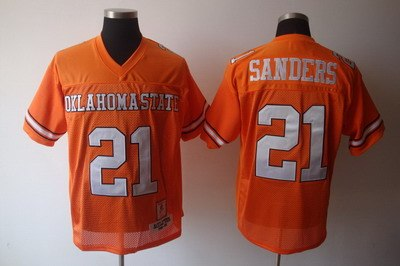 ncaa oklahoma state cowboys 21 barry sanders orange ncaa jerseys