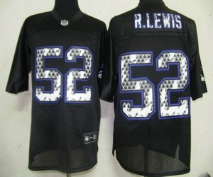 nfl baltimore ravens 52 r.lewis black united sideline jerseys