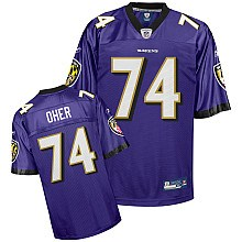 nfl jerseys baltimore ravens 74# oher purple jerseys