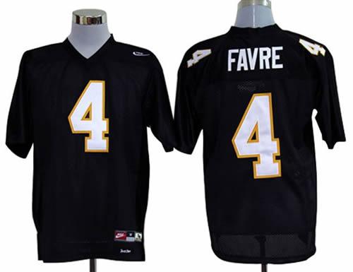 NEW southern mississippi golden eagles brett favre 4 black college football throwback jerseys