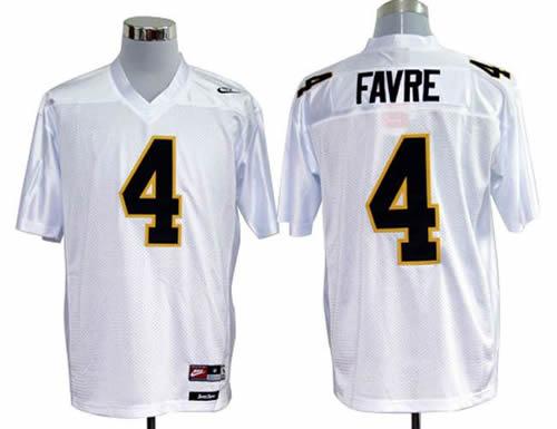 NEW southern mississippi golden eagles brett favre 4 white college football throwback jerseys