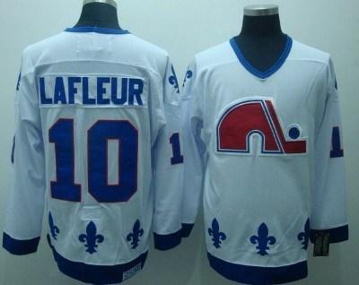 quebec nordiques #10 lafleur white ccm throwback jersey