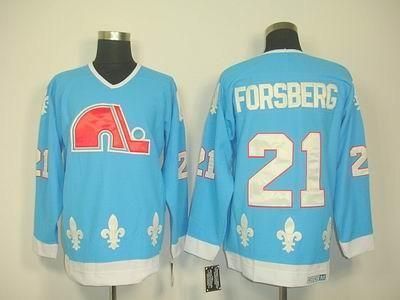 quebec nordiques 21 peter forsberg lt blue ccm jerseys