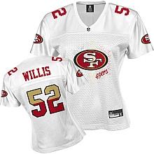 NFL san francisco 49ers 52# patrick willis women's white fem fan jersey