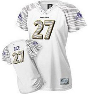 women baltimore ravens 27 ray rice zebra field flirt white