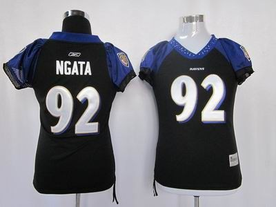 women baltimore ravens 92 haloti ngata black jerseys