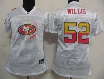 women nfl jerseys san francisco 49ers 52 patrick willis white 2011 fem fan