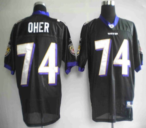 youth baltimore ravens 74# oher black