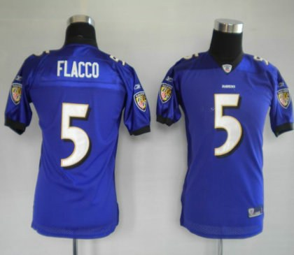 youth jerseys baltimore ravens 5 joe flacco purple