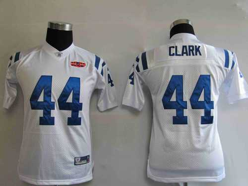 youth jerseys indianapolis colts 44 dallas clark white