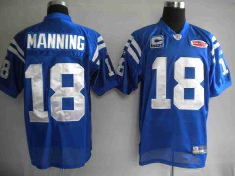 youth nfl jerseys 2010 super bowl indianapolis colts 18 peyton manning blue